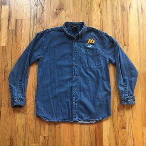 Greg Biffle Nascar Denim Shirt
